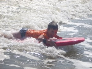 Arching body boarding