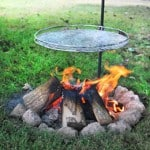 Pioneer campfire cooking grill
